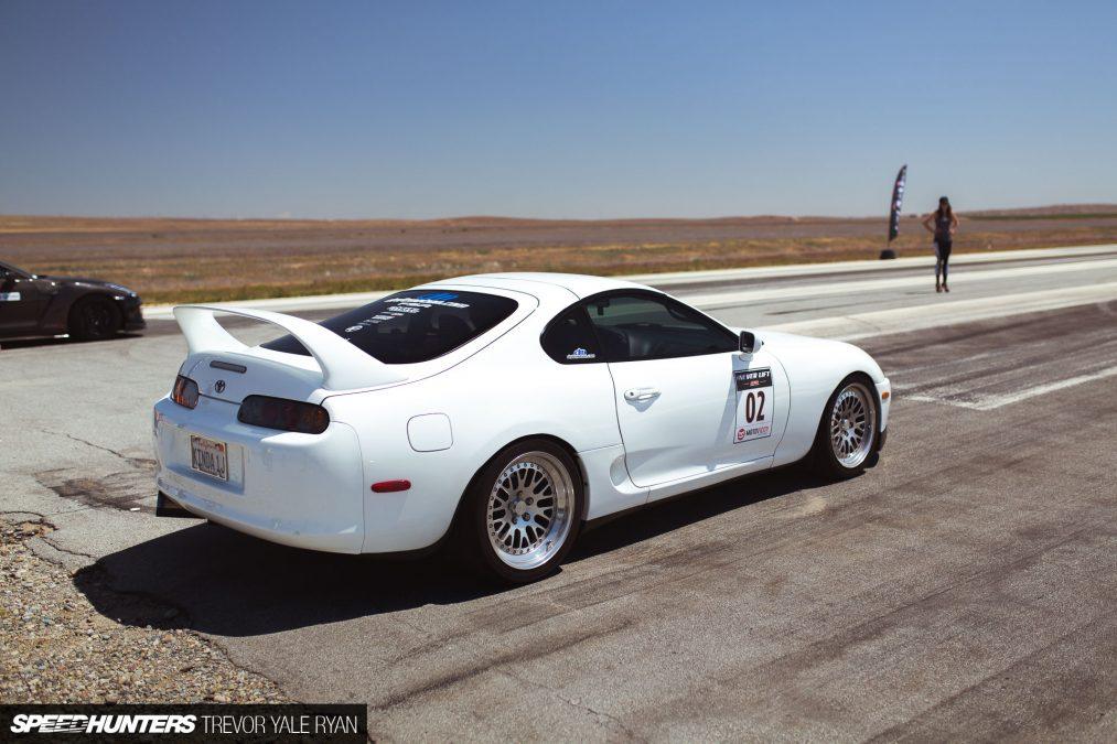 White Toyota Supra JZA80
